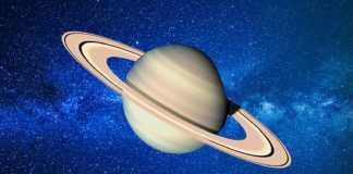Planeta Saturn nisip
