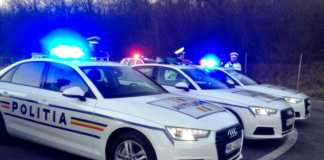 Politia Romana accident masina telefon