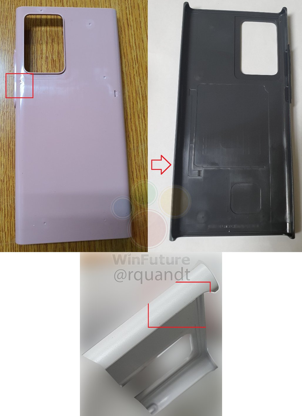 Samsung GALAXY Note 20 carcasa prototip