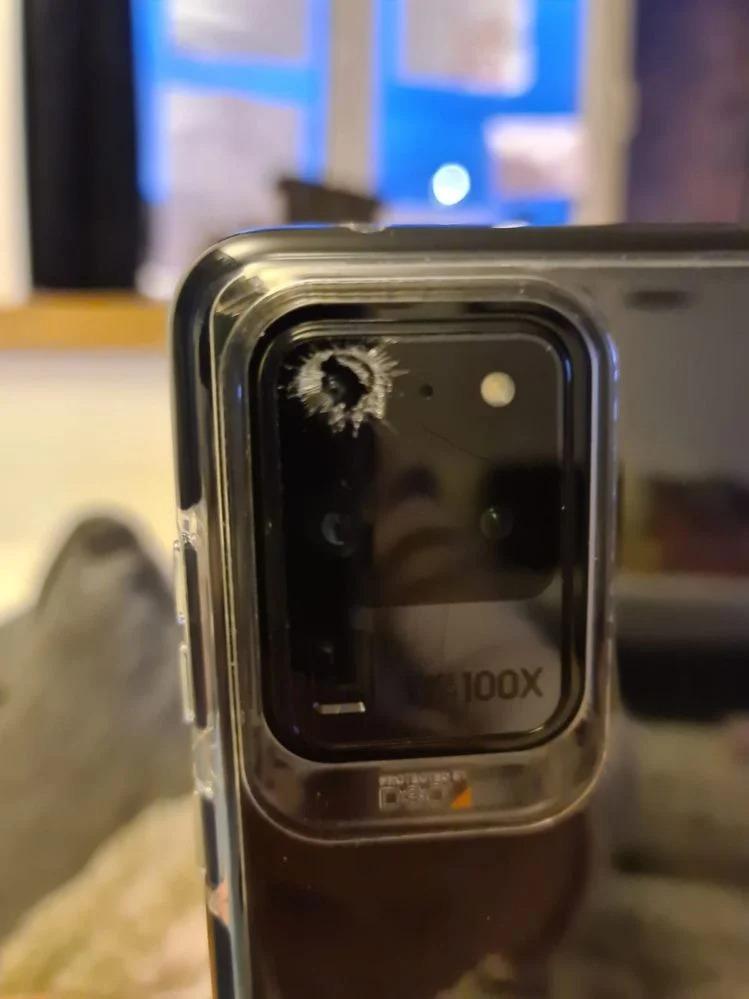 Samsung GALAXY S20 ULTRA crapat camera