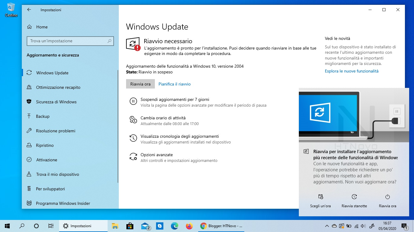 Windows 10 optiuni actualizari