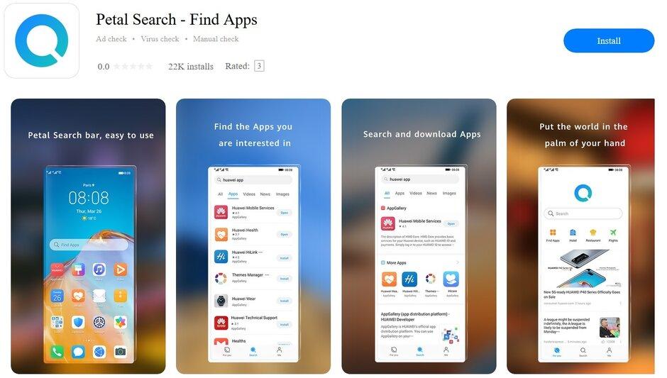 Huawei Petal Search aplicatii