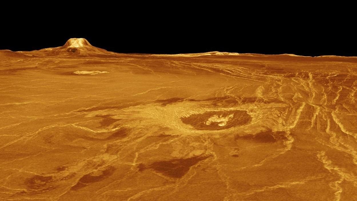 Planeta Venus vulcan vulcan gula mons