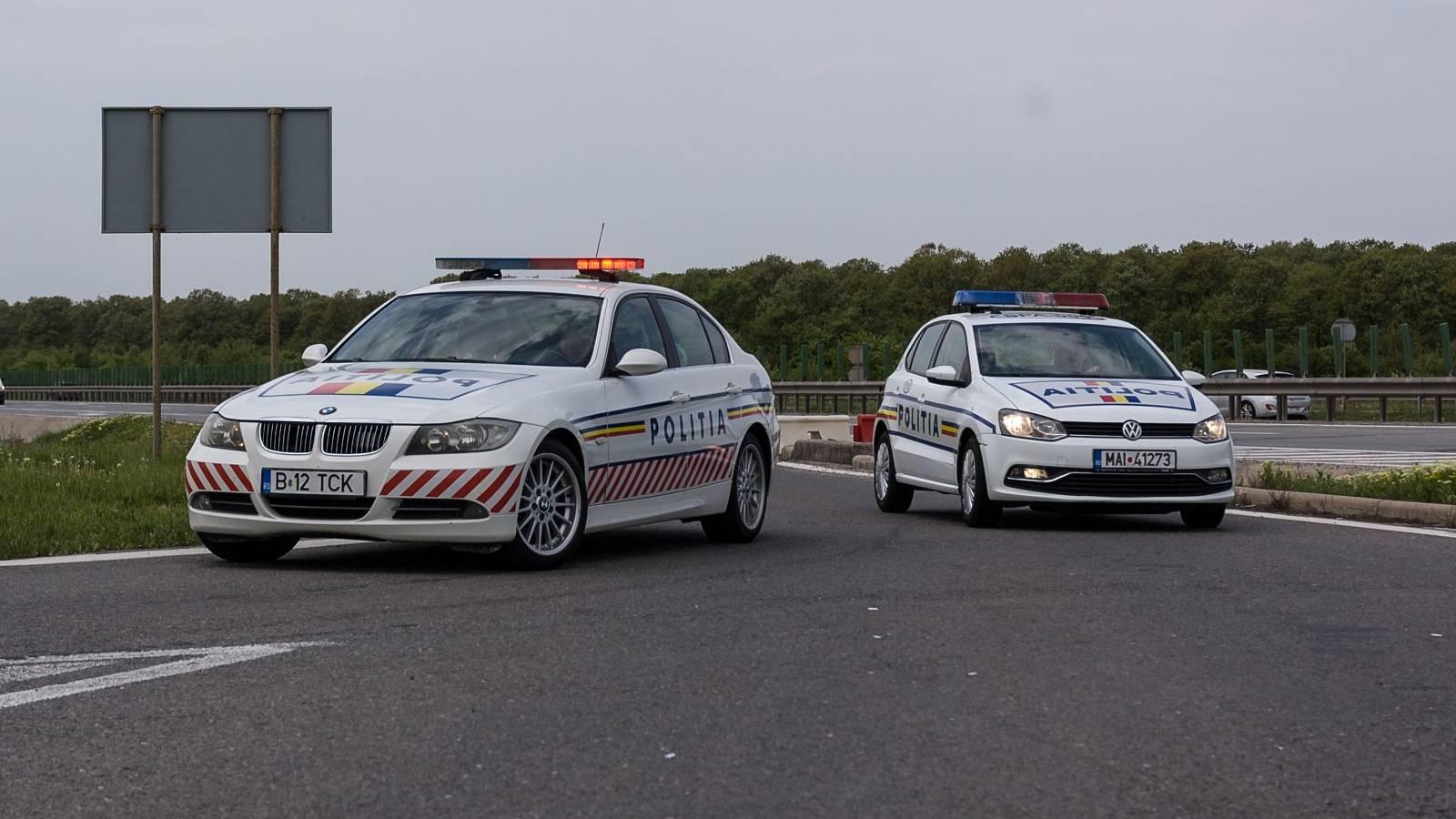 Politia Romana autostrada radar