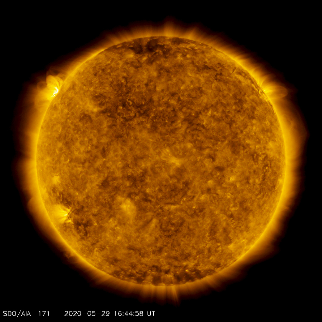 Soarele explozii nasa