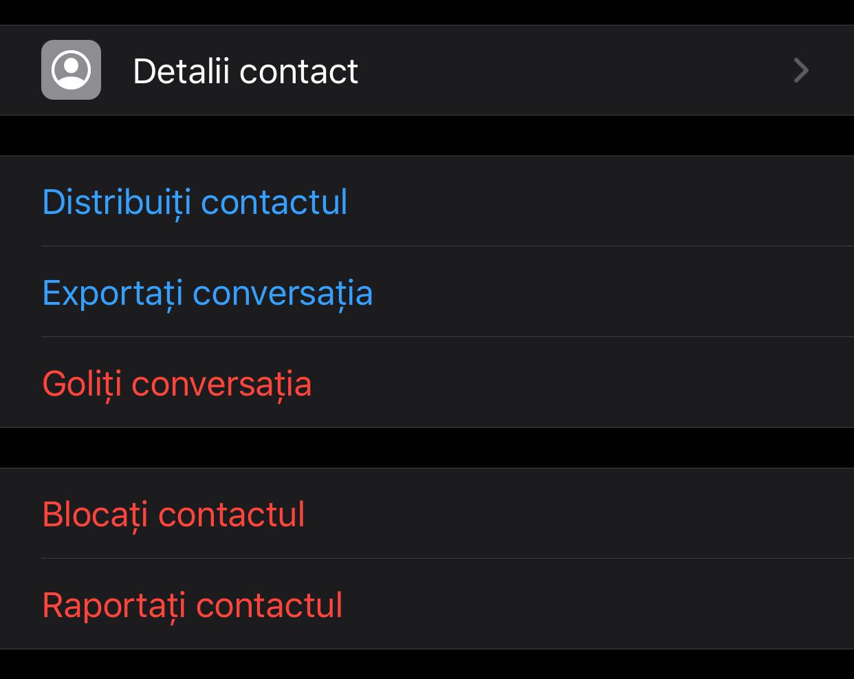 WhatsApp exporta conversatii