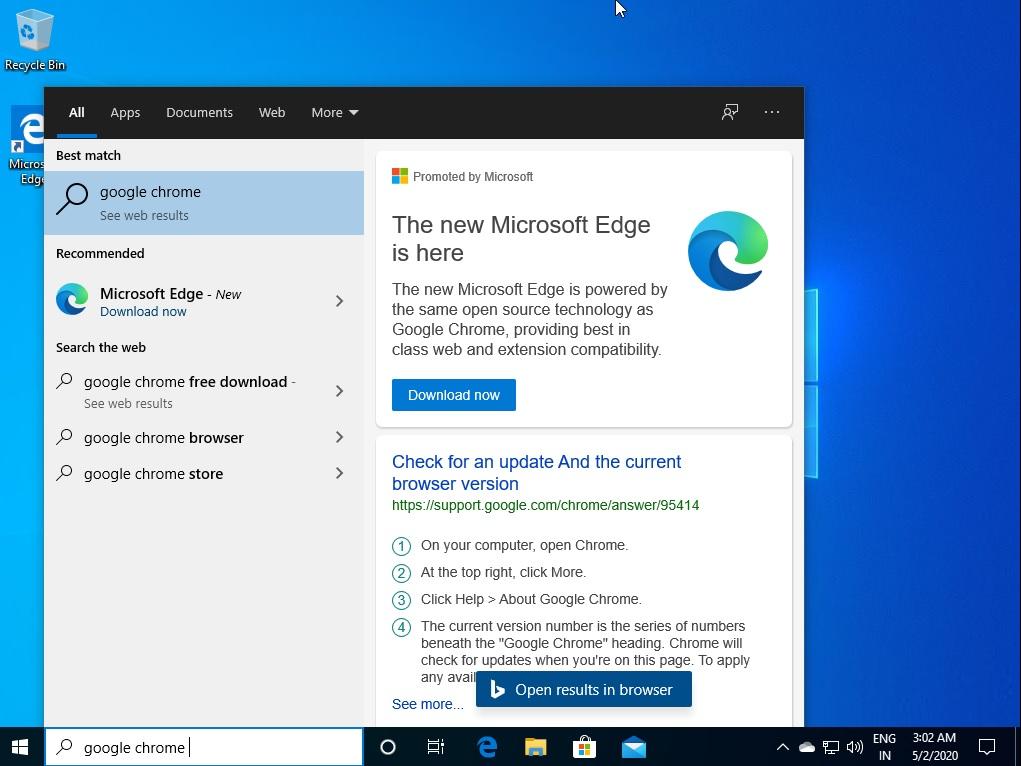 Windows 10 promovari google chrome