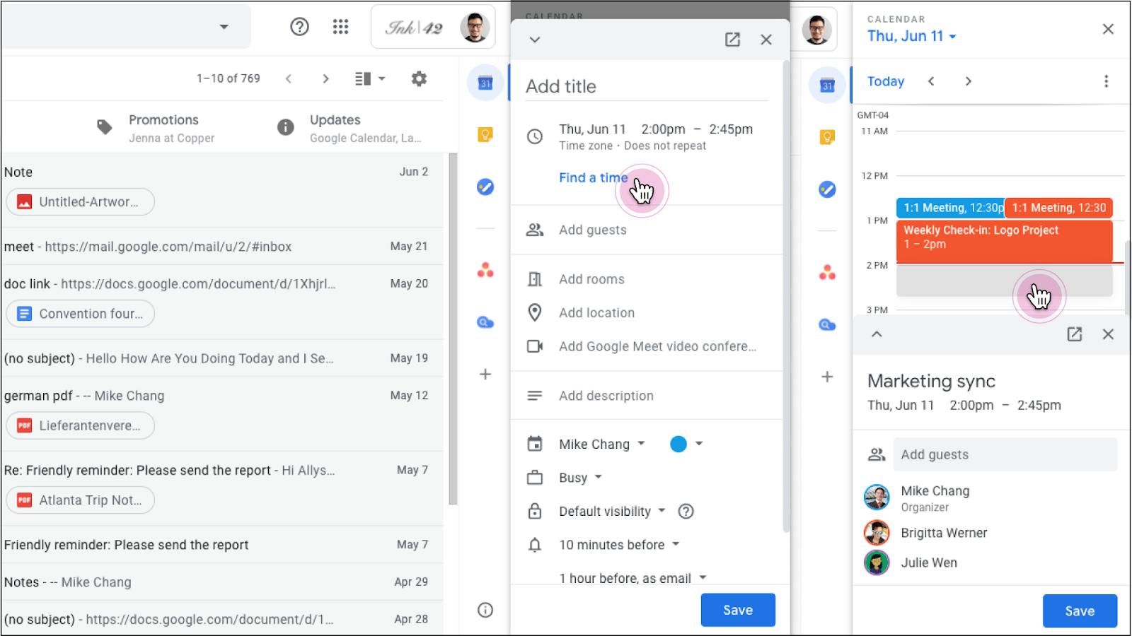 Gmail editare calendar