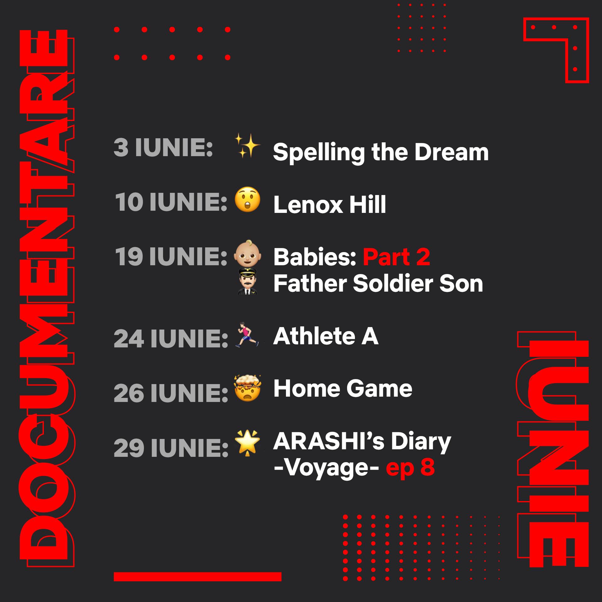 Netflix iunie documentare