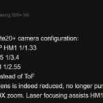 Samsung GALAXY Note 20 Plus camera specificatii