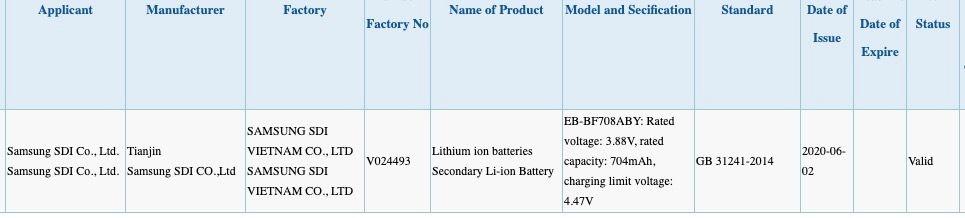 Samsung NOTE 20 Z Flip 5G OFICIAL certif
