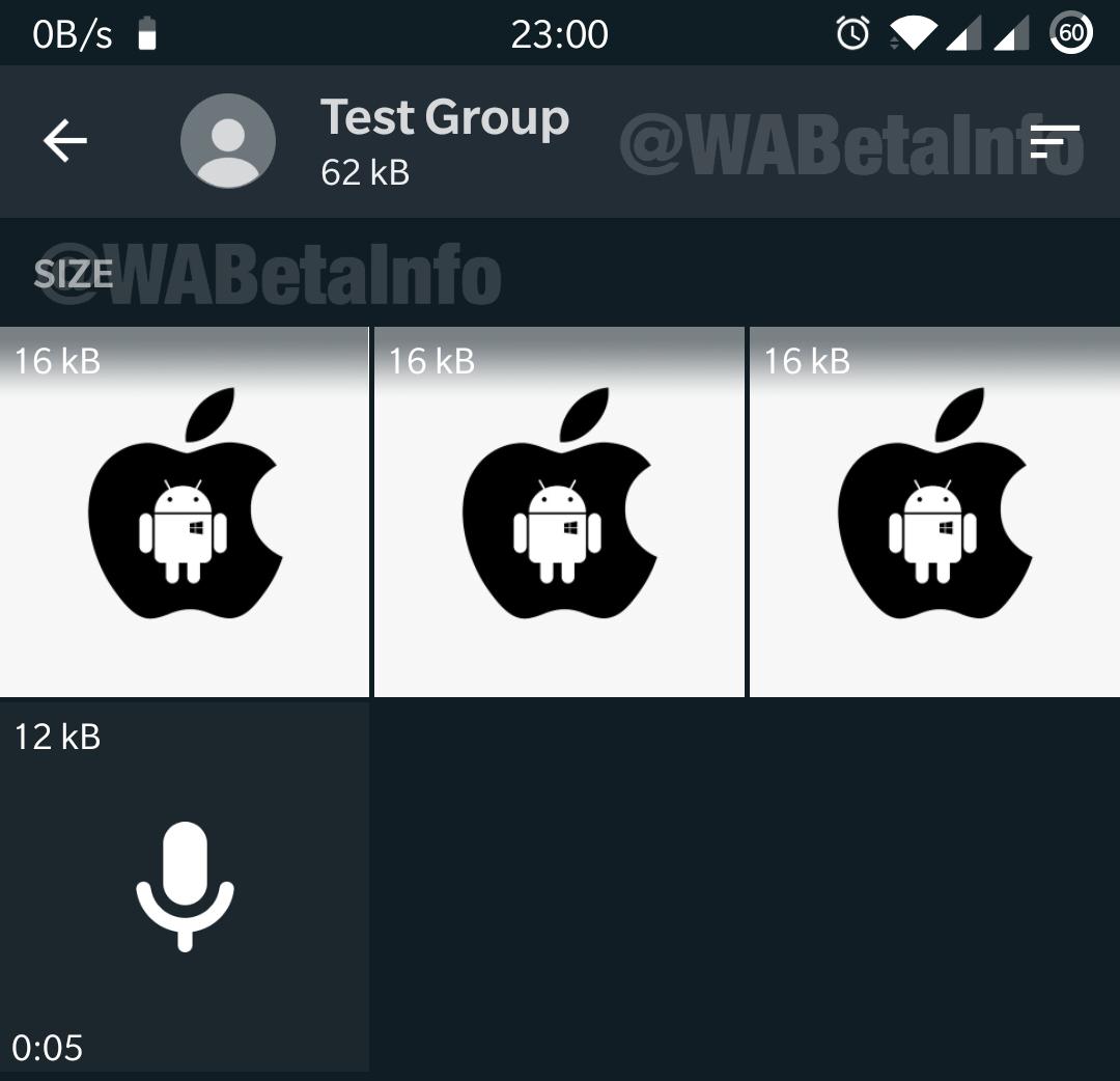 WhatsApp interior sortare
