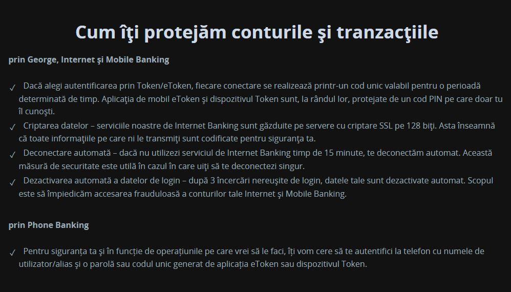 BCR Romania securizare internet banking