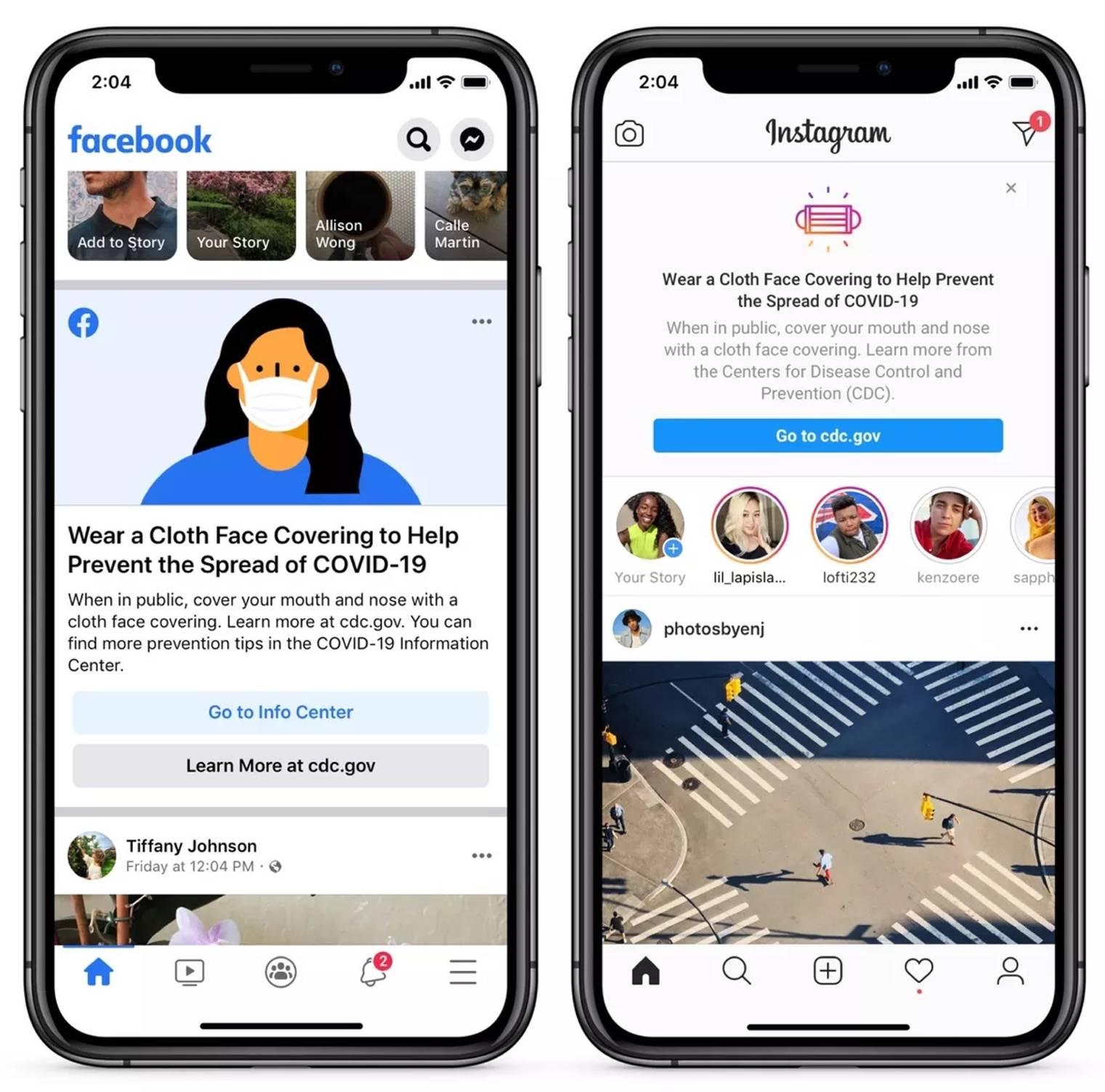Facebook Instagram masca protectie