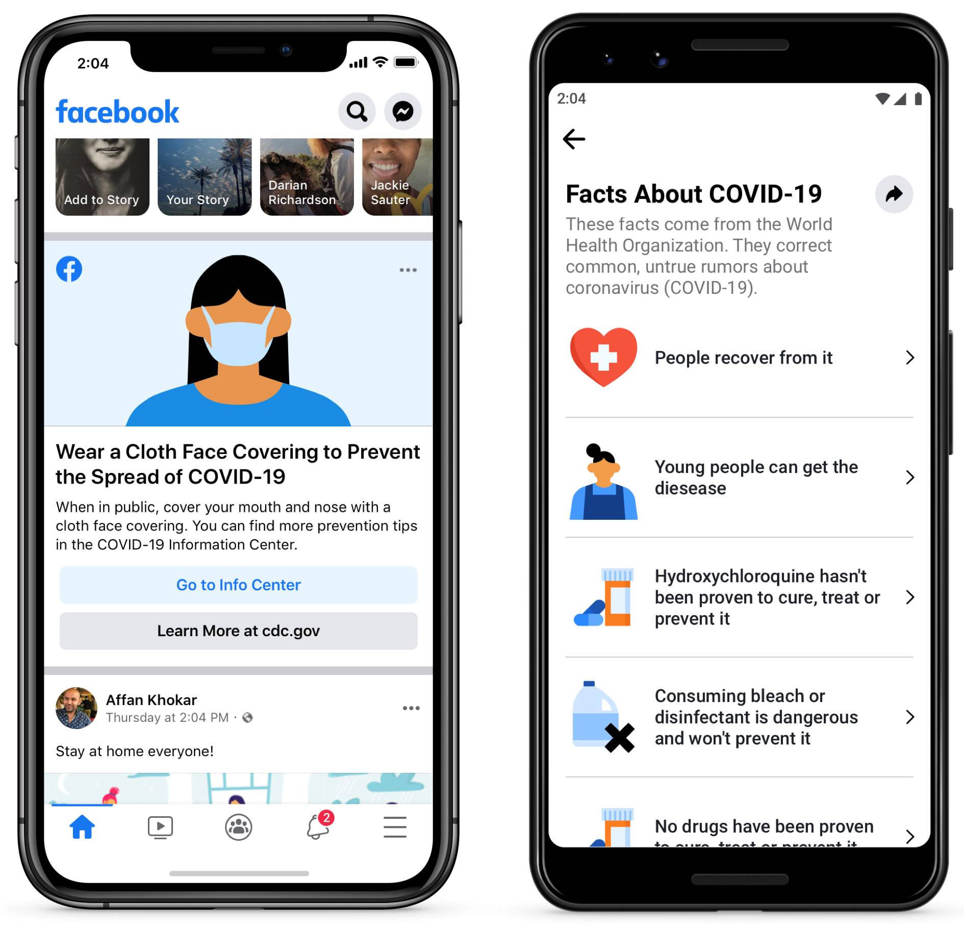 Facebook mituri Coronavirus sectiune