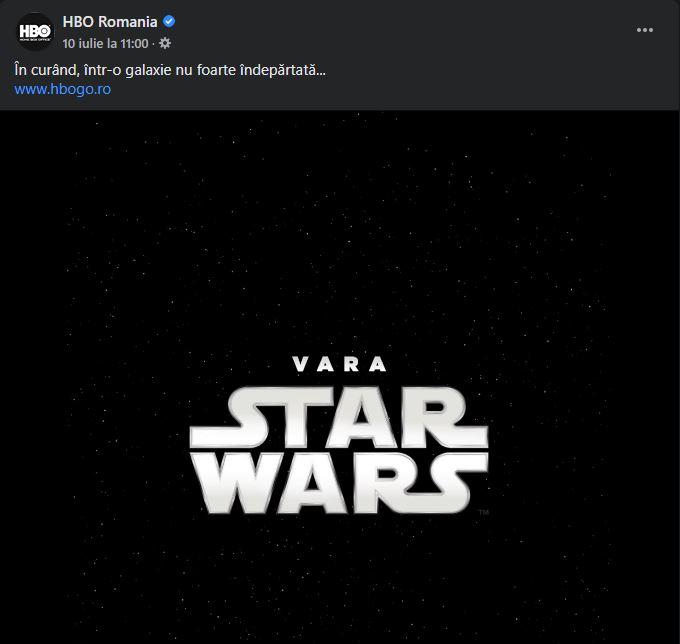 HBO Romania star wars streaming