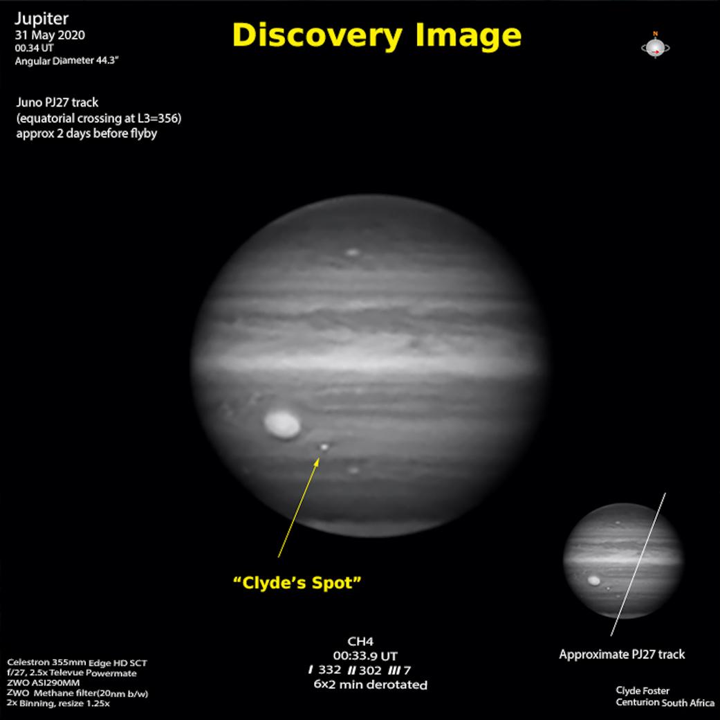 Planeta Jupiter furtunile amator