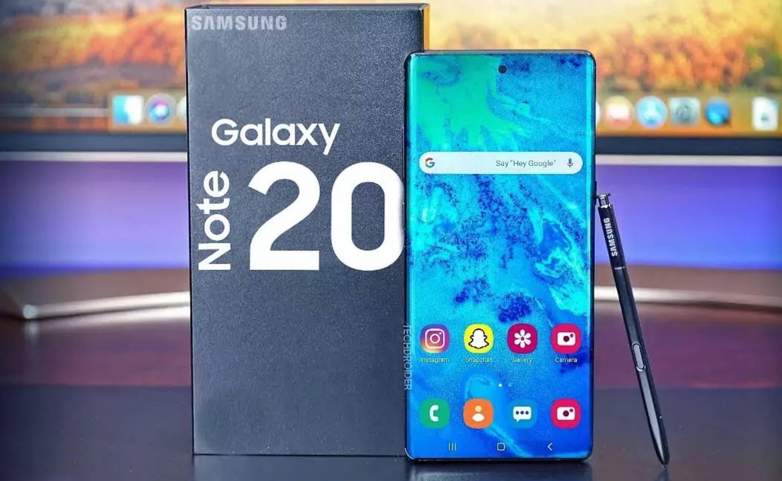 Samsung GALAXY NOTE 20 comparativ