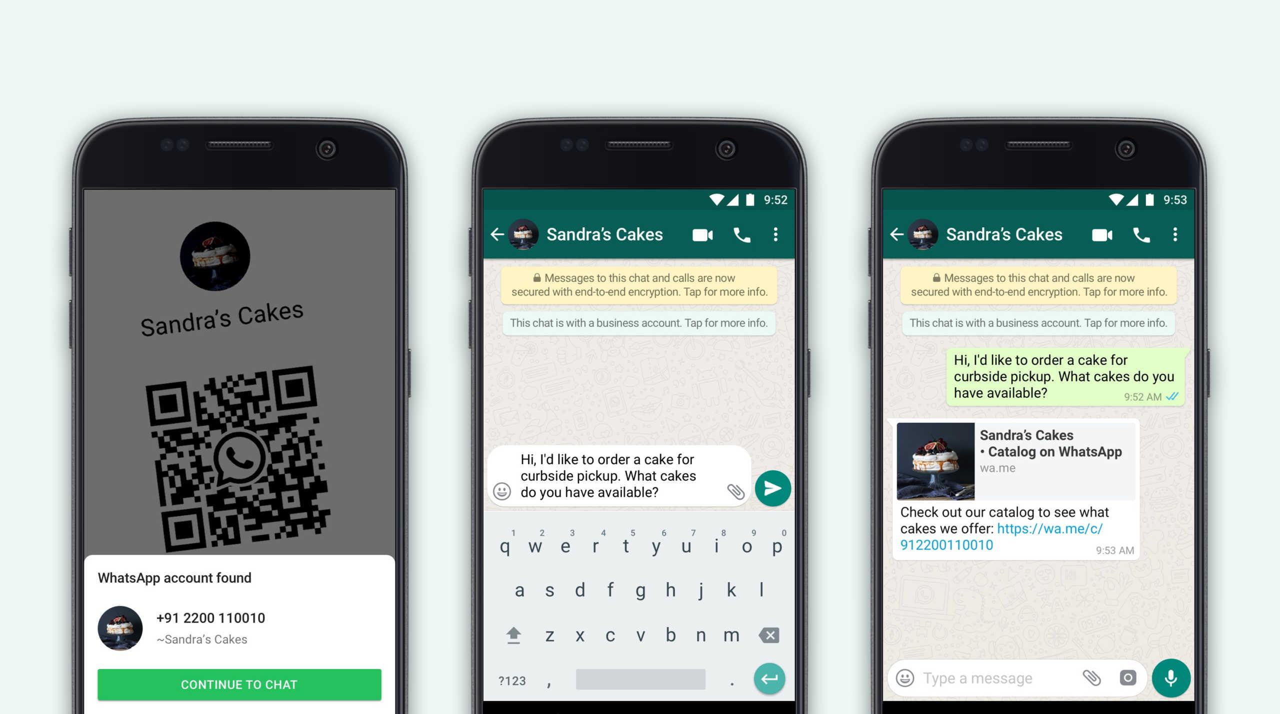 WhatsApp afaceri qr code
