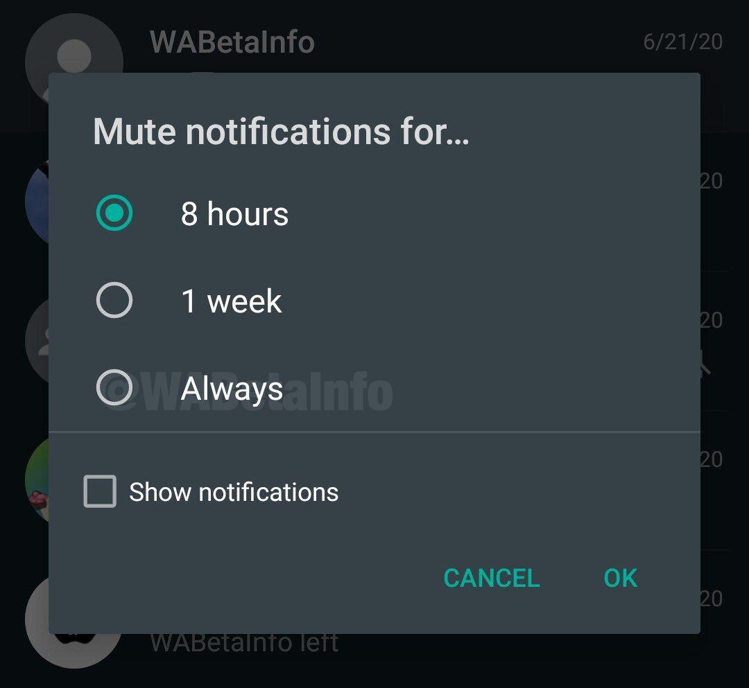 WhatsApp enervante notificari