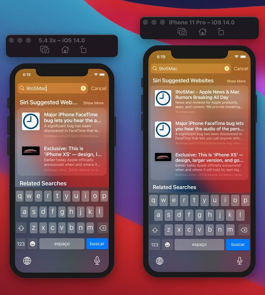 iPhone 12 5.4 inch iOS 14 imagine