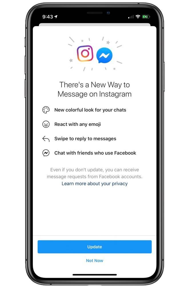 Facebook Messenger instagram chat