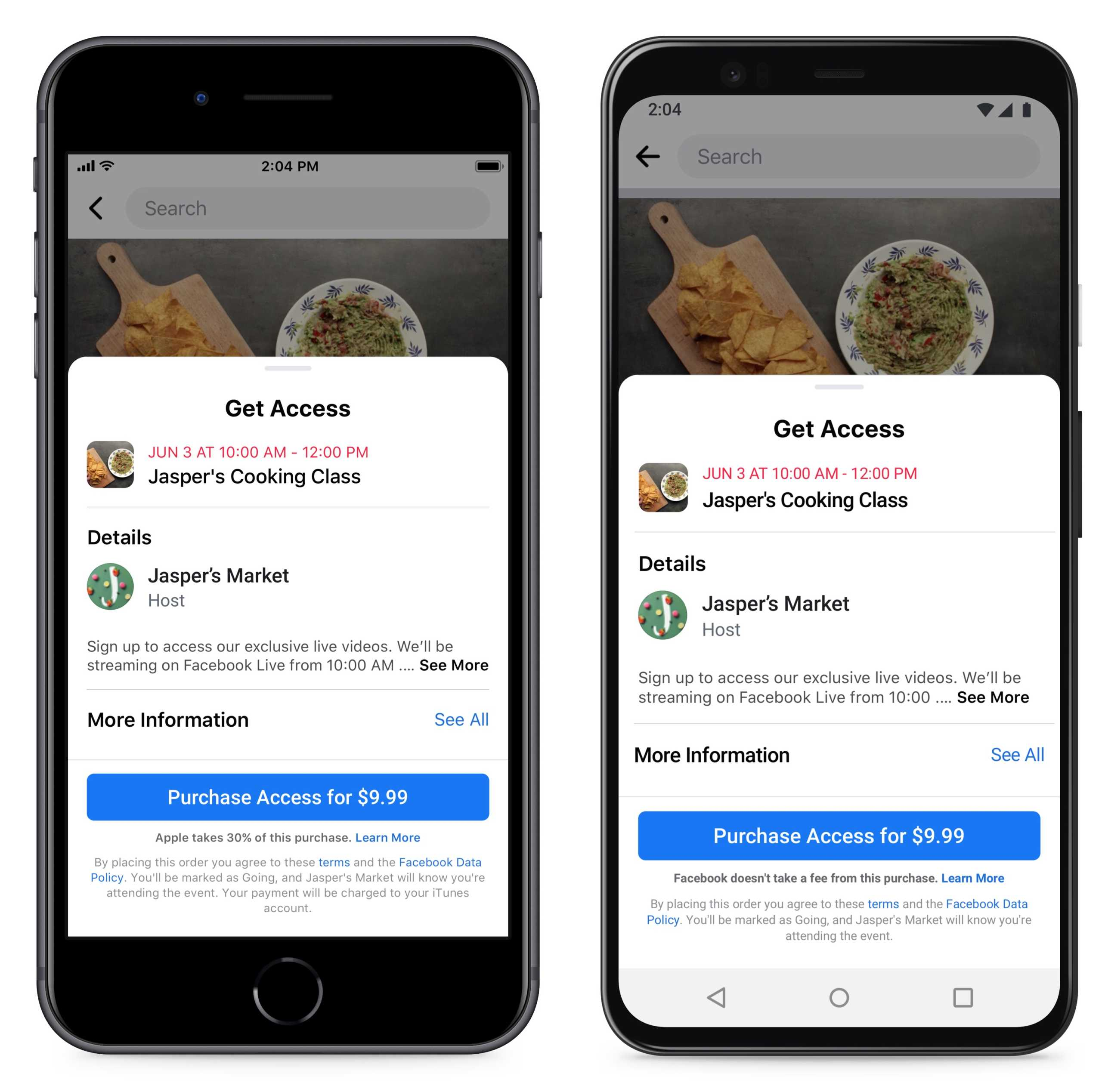 Facebook evenimente platite utilizatori