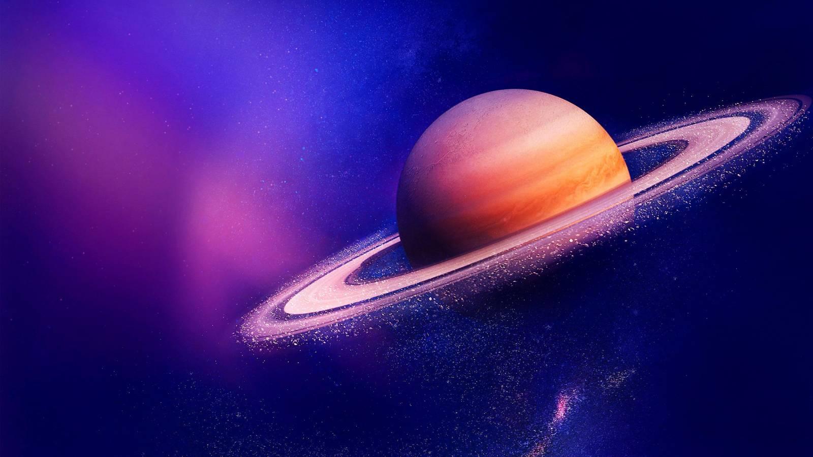 Planeta Saturn erodare