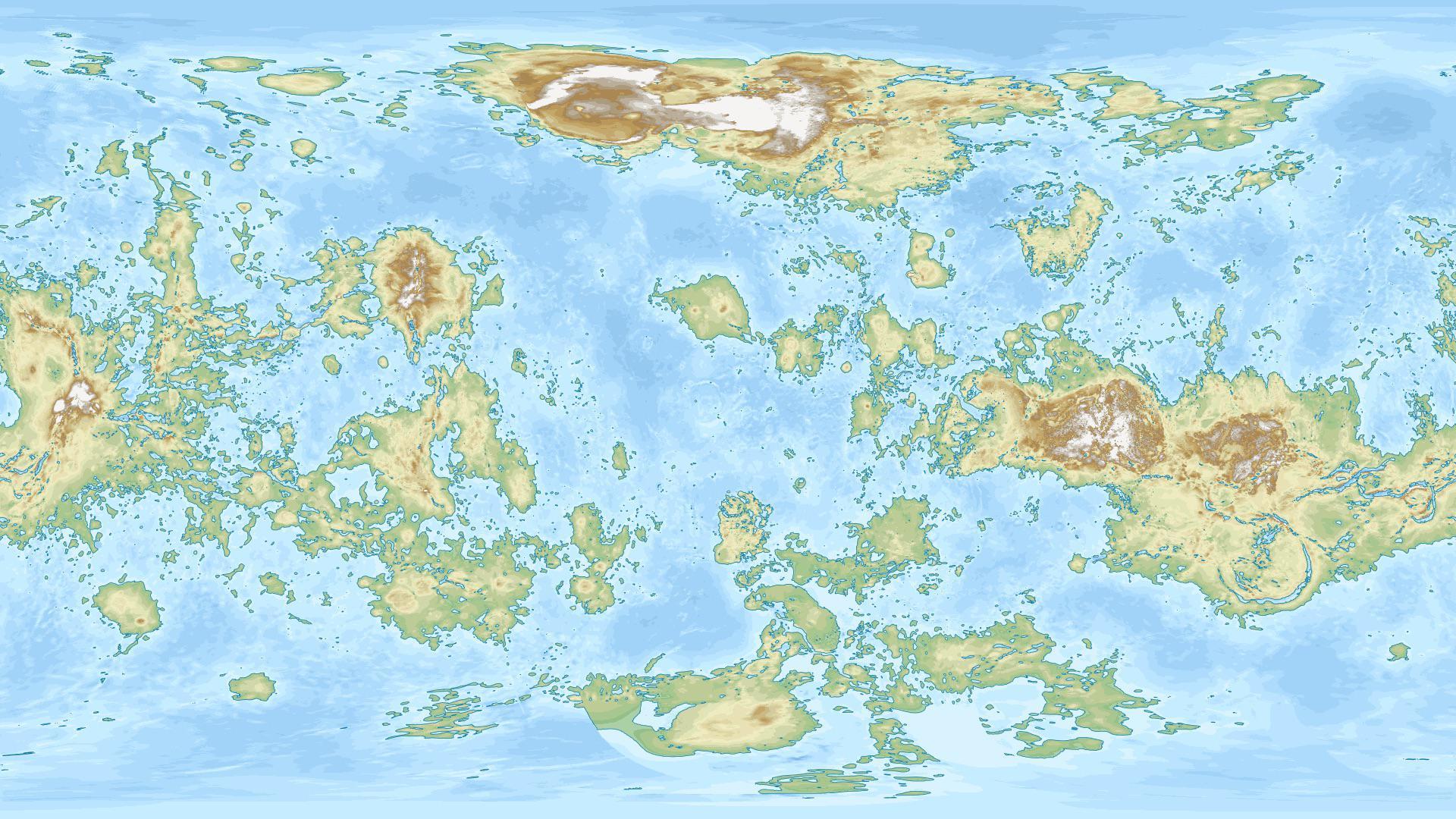 Planeta Venus continente harta