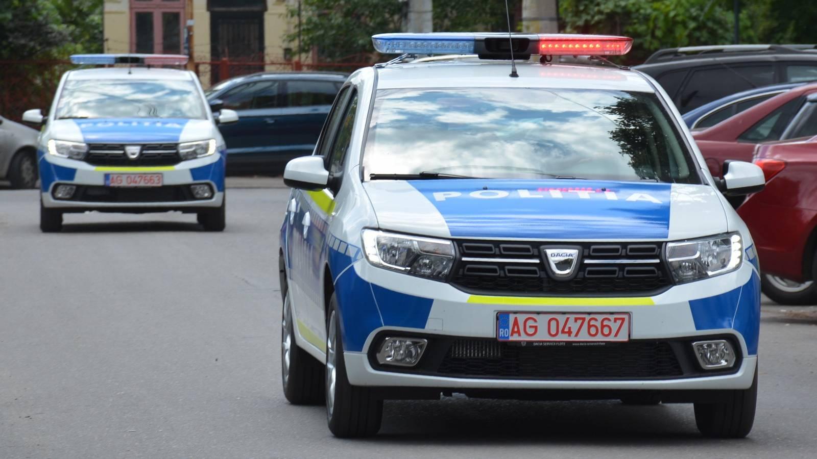 Politia Romana inselaciune accident