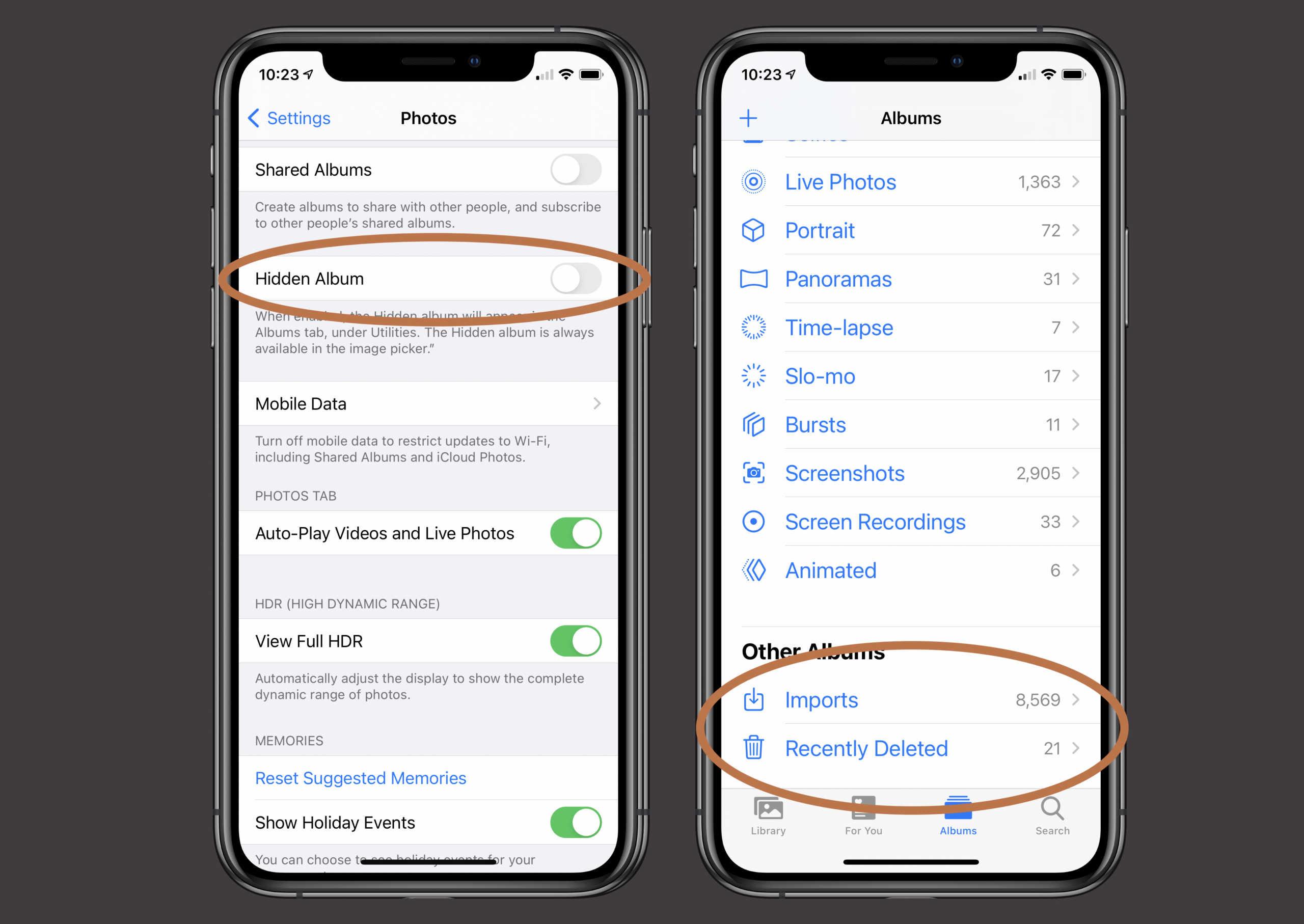 iOS 14 poze ascunse album