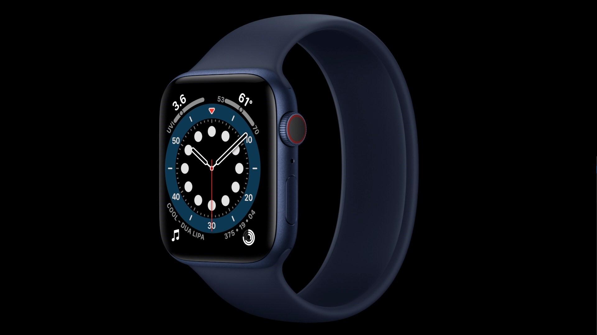 Apple Watch 6 albastru