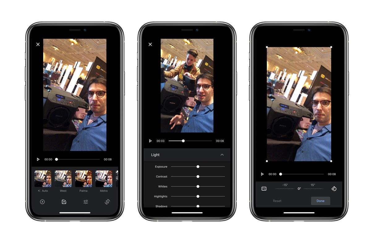 Google Photos editare video optiuni