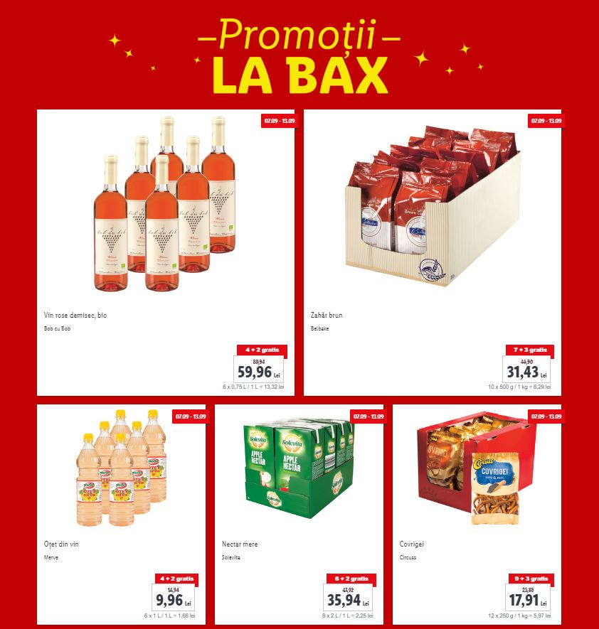 LIDL Romania bax promotii