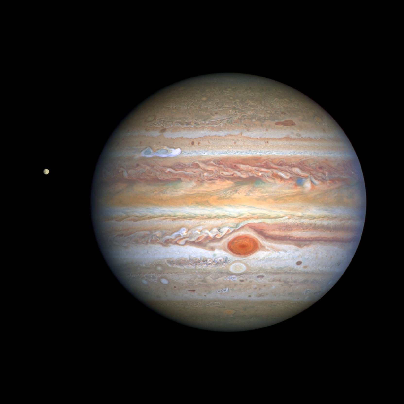 Planeta Jupiter ultraviolet europa