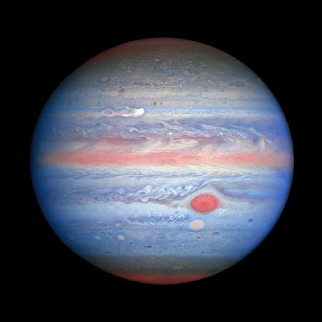 Planeta Jupiter ultraviolet imagine