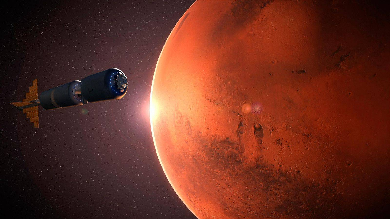 Planeta Marte eclipse