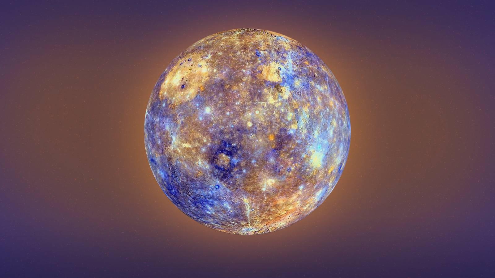 Planeta Mercur munti