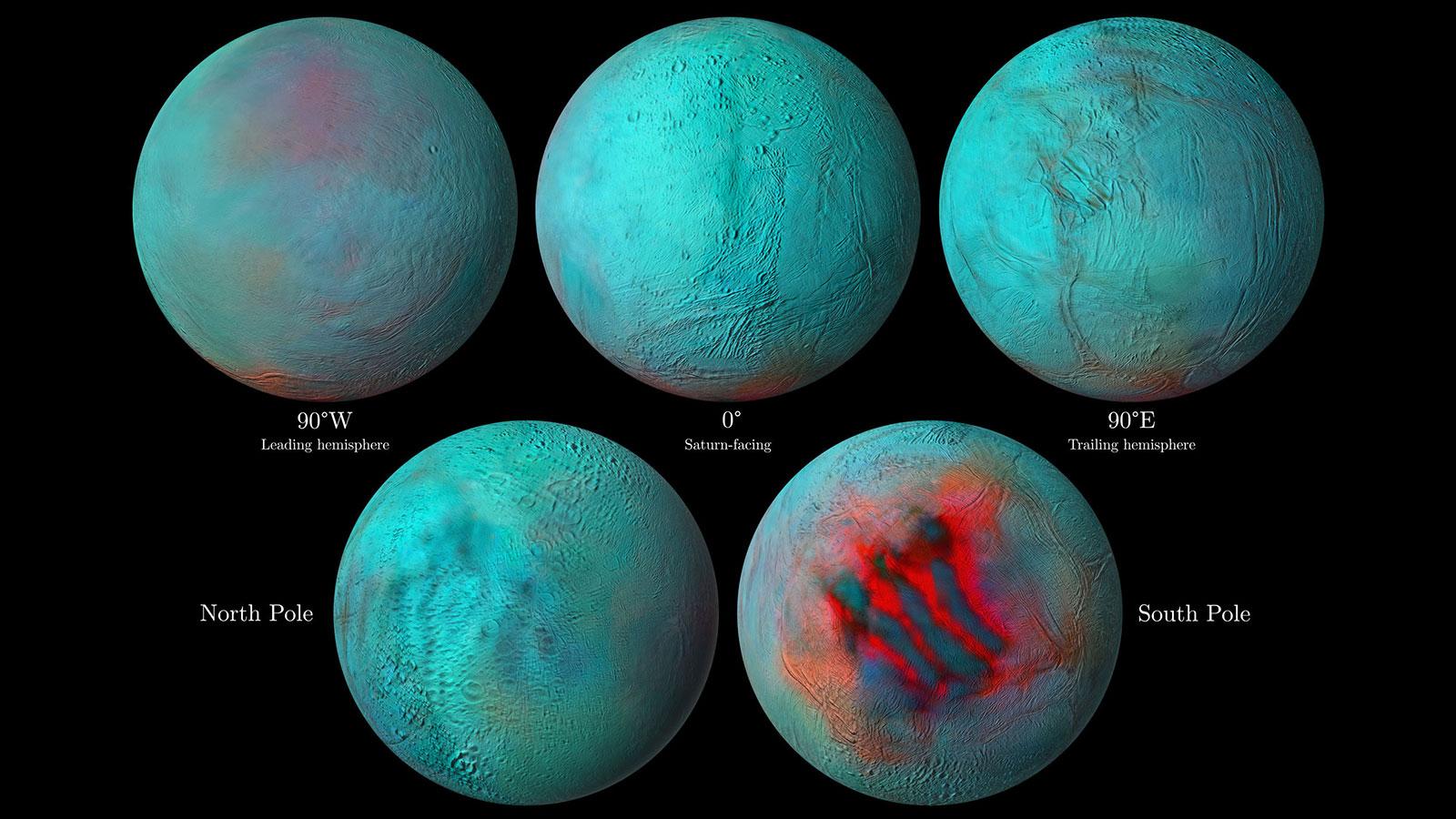 Locațiile de gheață ale planetei Saturn