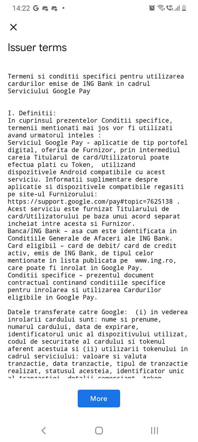 ING Bank google pay