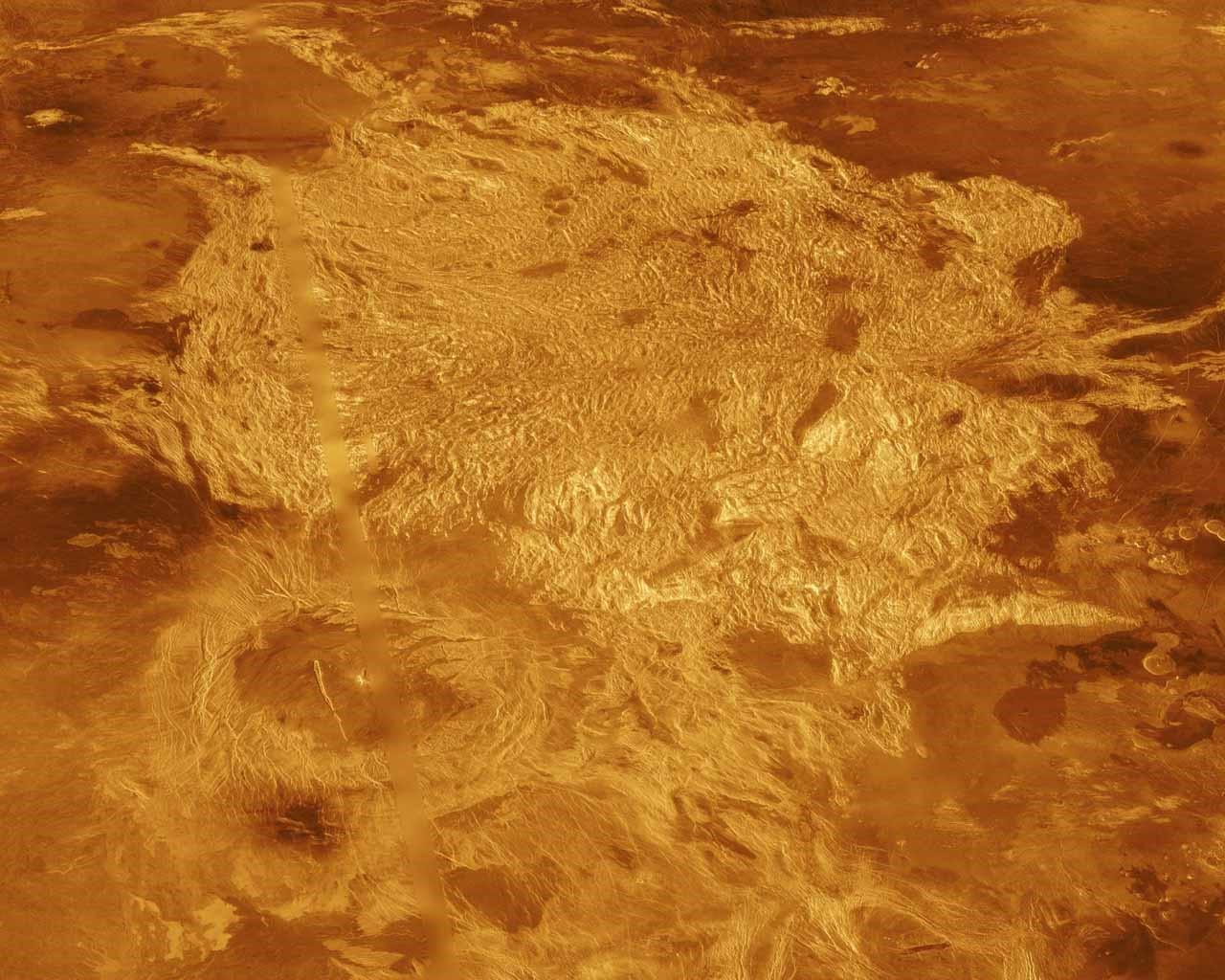Planeta Venus terasele vulcanice