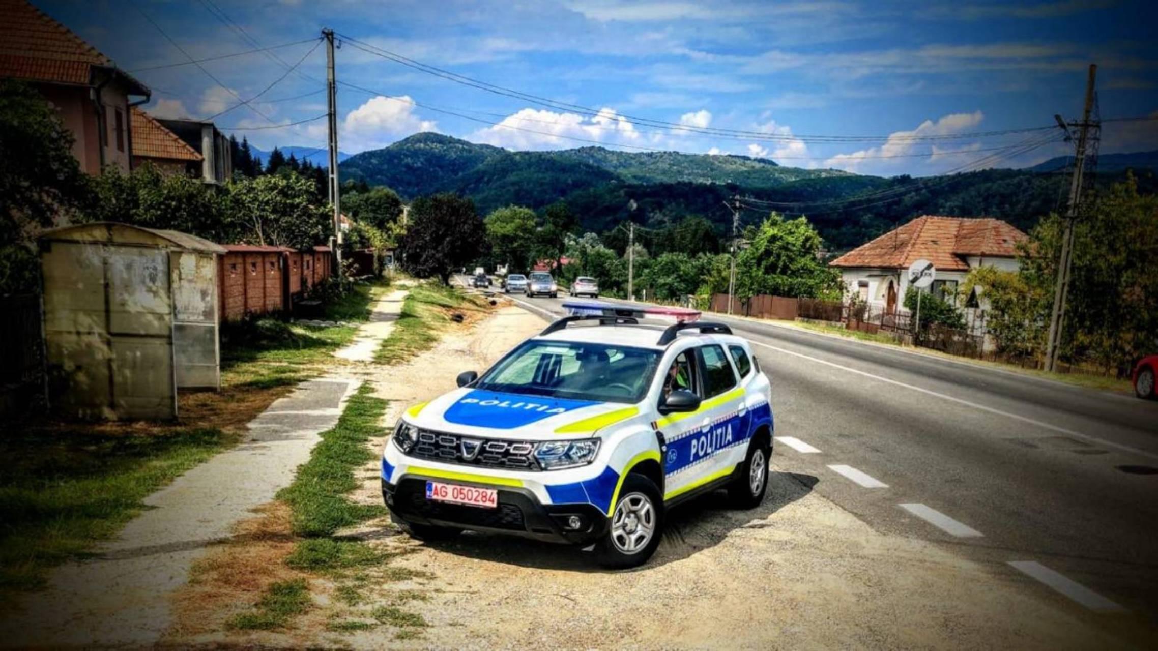 Politia Romana autostrada vreme