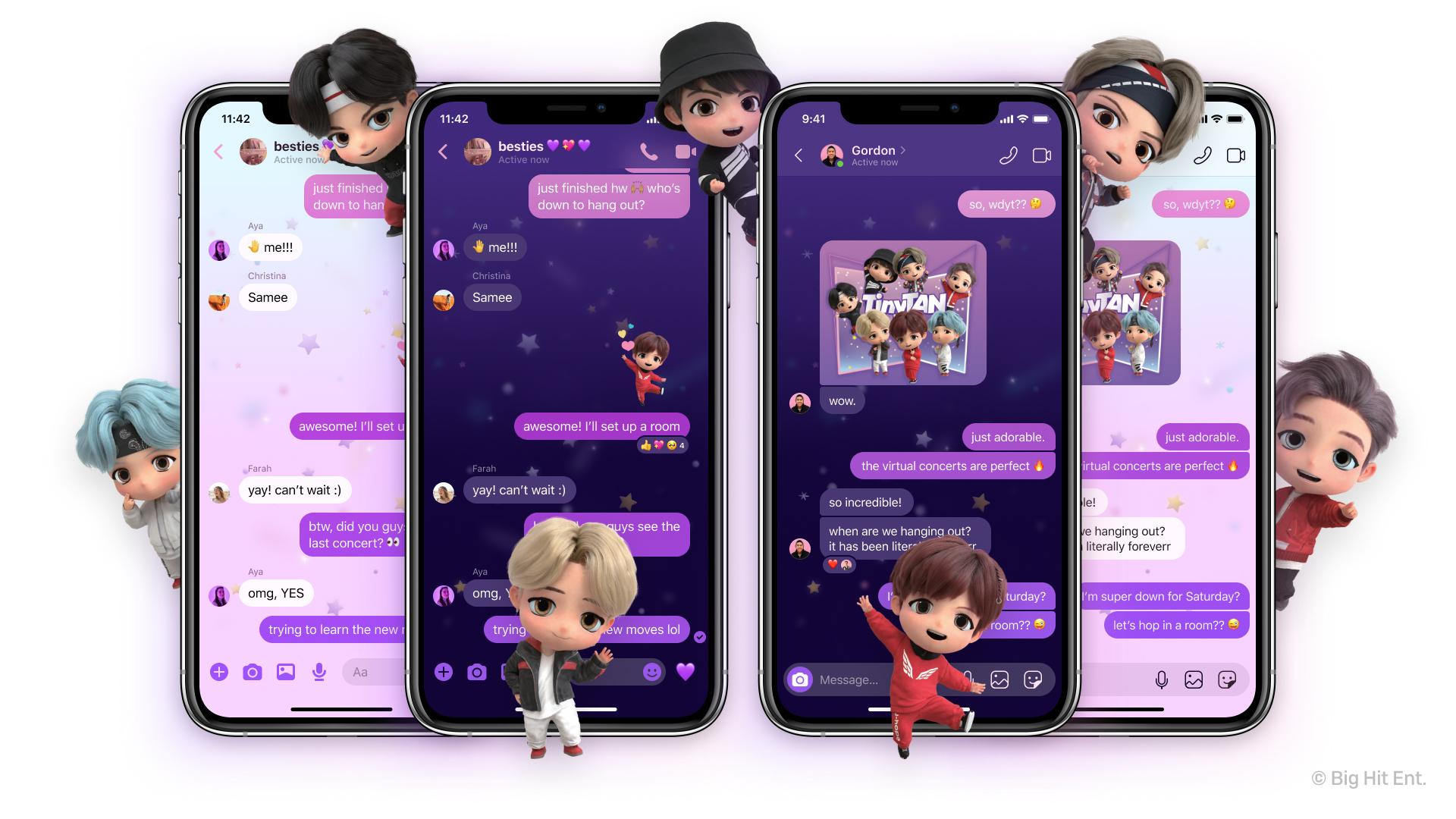 Facebook Messenger bts chat personaje