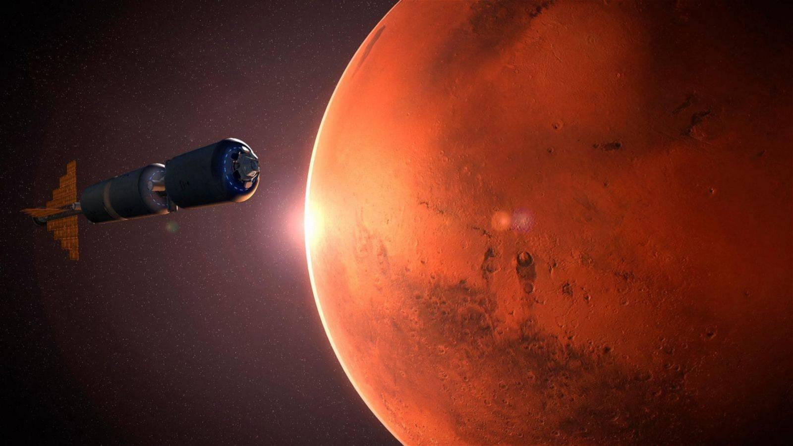 Planeta Marte eruptii