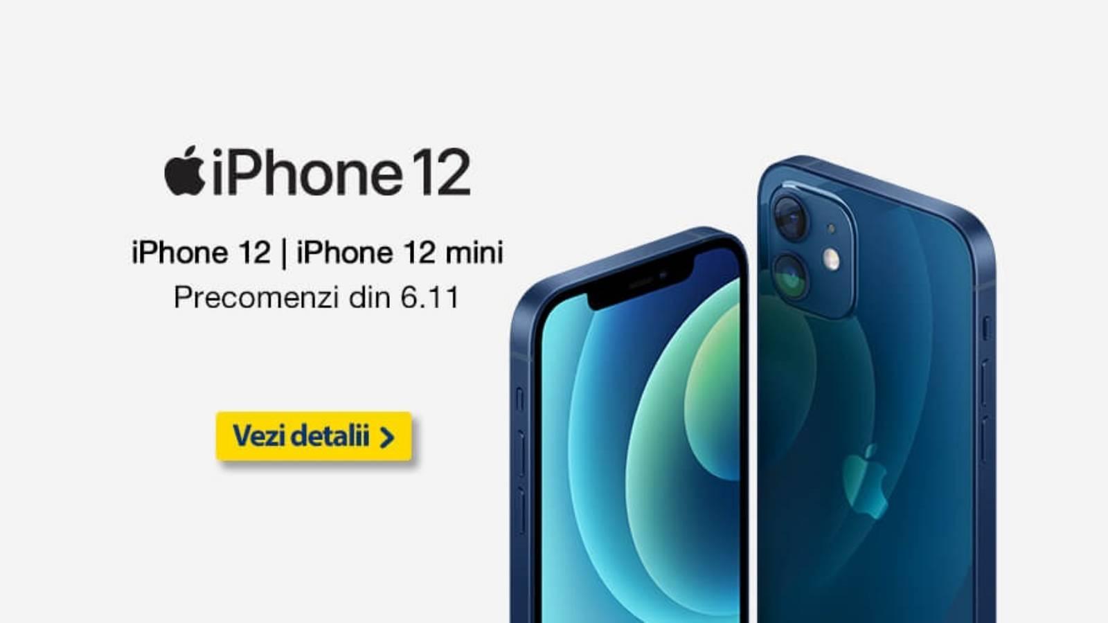Precomenzile iPhone 12 eMAG Orange Vodafone