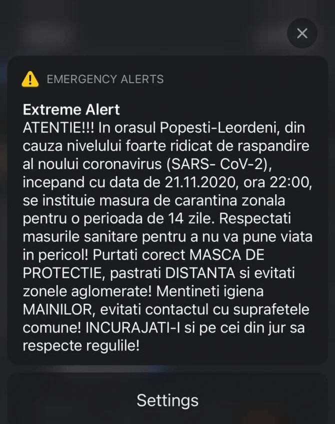 RO-ALERT Mesajele Alerta Locuitorii langa Bucuresti Romania