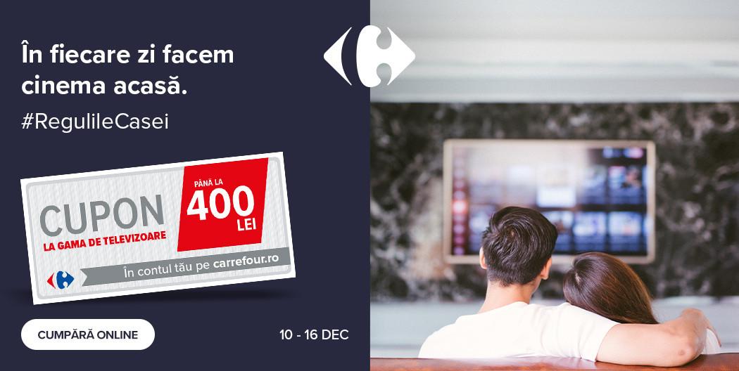 Carrefour incarcat televizor