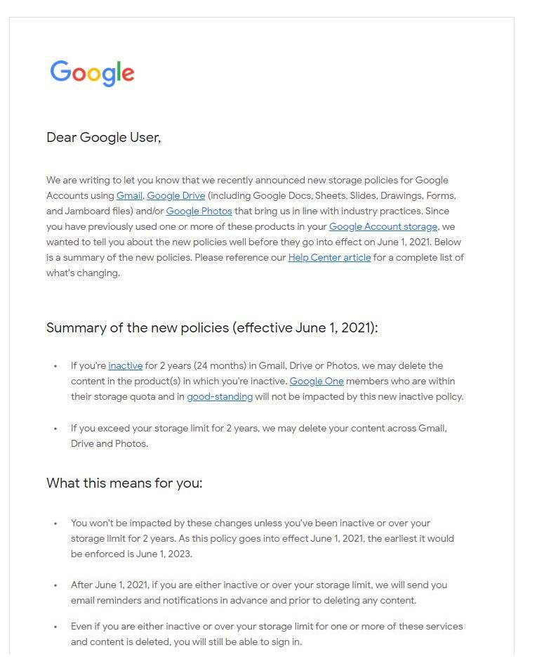 GMAIL eMail STERSE Curand explicatii