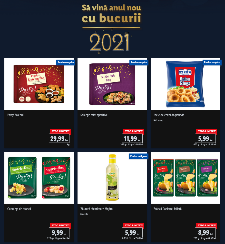 LIDL Romania revelion produse
