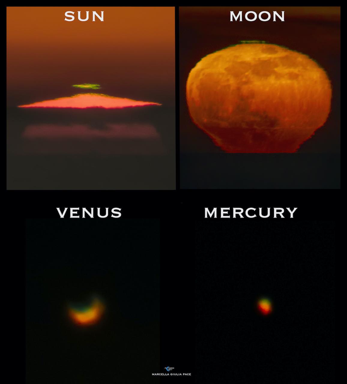 Planeta Venus verde atmosfera